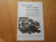 Vintage Alvis Advert -- Original -- from 1953