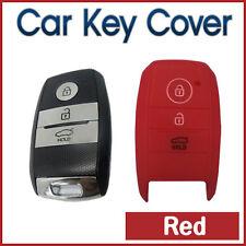 CAR KEY SILICONE COVER Remote fits KIA Rio Sportage Ceed Sorento Carens 3B -RED