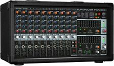 Behringer PMP2000D mint 14-Channel Powered Mixer 2000W Amplified w/ EQ & Effects
