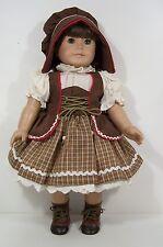 """German National Dirndl Dress Bonnet Doll Clothes For 18"""" American Girl (Debs)"""