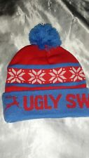 UGLY SWEATER RUN DOUBLE LAYER KNIT WINTER SNOW HAT CAP WITH POM POM LOT OF 15