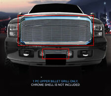 Fits 05-07 Ford F-250/F-350/F-450/F-550/Excursion Polished Upper Billet Grille