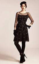 Alice by Temperley Mini Sapphire Dress sizes 6 - 10 BLACK   F3