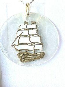Halskette  585  Gelbgold  45  cm +  Segelschiff    Anhänger Neu !!!!
