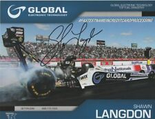 """2017 Shawn Langdon signed Global Electronic """"2nd issued"""" Top Fuel Nhra postcard"""