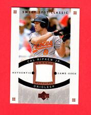 2005 Sweet Spot Classic Materials #CR Cal Ripken Jr Hitting Jersey Baseball Card
