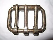 """2 Vintage Nos Three Tongue 2"""" Roller Buckle Bronze Finish, Harness Hardware"""