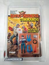 1989 TYCO DINO RIDERS COMMANDO - FAZE - MOSC UKG GRADED 75 - AFA SEALED FIGURE