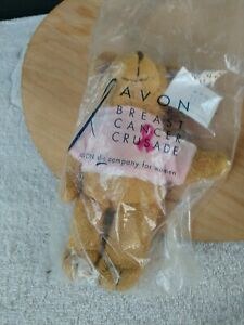 Avon 2002 Breast Cancer Bear New Sealed In Plastic