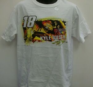 Kyle Busch M & M's Racing Chase Authentic's Draft T - Shirt - Medium Free Ship