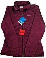 NEW Columbia Women's Mount Carmel Full Zip Fleece Jacket Dark Raspberry
