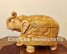 Large Handmade Indian Carved Trunk Up Elephant /Lucky Elephant For Business,Home