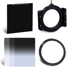 ZOMEI 100*100mm Glass ND1000+150*100mm Resin Graduated ND2 4 8 filter kit +77mm