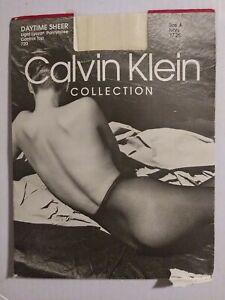 CALVIN KLEIN DAYTIME SHEER CONTROL TOP PANTYHOUSE IVORY SZ A LIGHT LICRA...