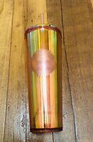 New Starbucks Tumbler 2020 Iridescent Rose Gold 24 oz Hologram Limited Edition