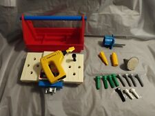 Vintage Fisher Price Power Workshop 1986 Missing Pieces Non-Working Drill