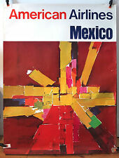 AMERICAN AIRLINES original 1960s travel poster Laurence Gaynor