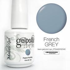 15ml Mabel's Gel Nail Art Soak Off Color UV Gel Polish UV Lamp - French Grey