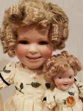 Shirley Temple Doll~ Two of A Kind~1998 Danbury Mint~Shirley w/Mini Shirley Doll