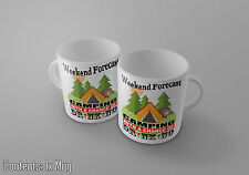 WEEKEND FORECAST CAMPING WITH A CHANCE OF DRINKING - FUNNY GIFT Tea/Coffee Mug