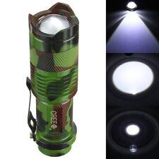 Mini CREE Q5 2000 Lumen LED Three Mode Focus Zoomable Flashlight Torch Light New