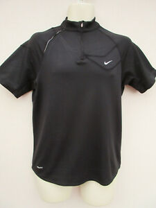 Nike - Mens / Boys Black Short Sleeved Activewear Top - size M