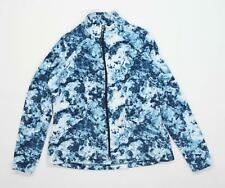 Marks & Spencer Womens Size 14 Fleece Abstract Blue Jacket