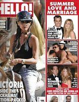 Hello Magazine Victoria Beckham Jennifer Aniston Justin Theroux Elle Macpherson