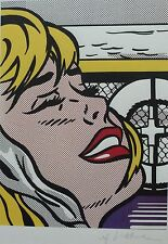 "ROY LICHTENSTEIN "" June's daughter's cruise  ""  w.MAT LITHOGRAPH PLATE SIGNED"