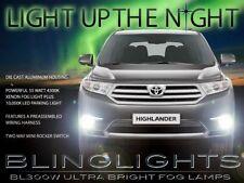 2011 2012 2013 Toyota Highlander Xenon Halogen Fog Lamps Driving Lights Kit Pair