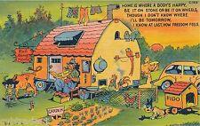 Vintage Travel Trailer Art Comic Freedom Feels Refrigerator / Tool  Box  Magnet