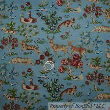 BonEful FABRIC FQ Cotton Quilt VTG Antique Boy Girl Flower Colonial Williamsburg