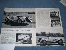 1929 Mercedes-Benz 38/250 SSK Vintage History Info Article SSKL