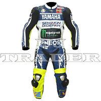Valentino Rossi Yamaha MotoGp 2013 Men One Piece Motorbike Racing Leather Suit