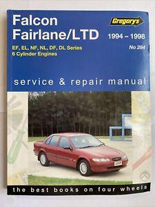 Gregorys 1994-1998 Falcon Fairlane / LTD 284 Service Repair Manual Paperback