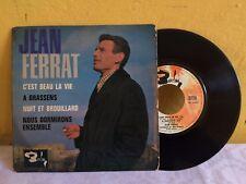 """JEAN FERRAT C'EST BEAU LA VIE FRENCH 7"""" EP PS CHANSON"""