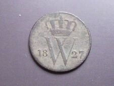 Netherland Pays-Bas 1827 Willem 1er, bronze, Pièce Monnaie Ancienne, Old Coin