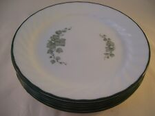 Corelle Corning Callaway Green Ivy Set of 7 Salad Dessert Plates USA Swirl
