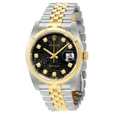 Rolex Oyster Perpetual Datejust36 Black with Diamonds Dial Mens Watch 116233BKJD