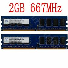 For NANYA 4GB (2x 2GB) / 1G PC2-5300 DDR2-667 Dual Channel Desktop PC Memory CA