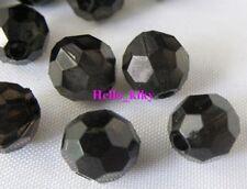 300 pcs Black Round Acrylic beads 8mm M1416