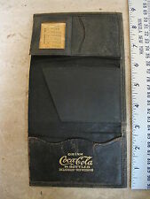 1918 Leather trifold Coca Cola Wallet Advertising Promo Promotional Coke RARE!
