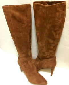 Sam Edelman Olencia Suede Luggage Brown Knee High Boots 8.5