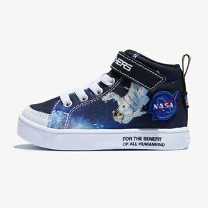 Skechers Nasa E-PRO ASTROFLIGHT Hightop Canvas Astronaut/Space Sneaker Toddler 9