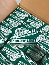 1987 TOPPS TRADED 132 CARD FACTORY SET GREG MADDUX ROOKIE......FROM MY CASE