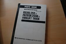 KOMATSU FB20S FB25S-2 FB20SH-2 FB25SH-2 Forklift Spare Parts Manual book catalog