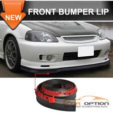 Fits Honda 100 Inch Front Bumper Lip Kit Splitter Body Spoiler Valance Chin Ez