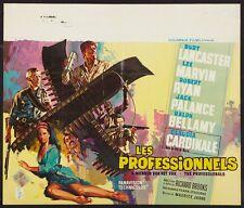 PROFESSIONALS Belgian movie poster LEE MARVIN BURT LANCASTER CARDINALE RAY Art