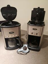 Lot of 2 GEVALIA and CUISINART Black/Stainless Steel (12) Cup Coffee Makers