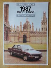 PEUGEOT Range 1987 UK Mkt brochure - 205 309 305 505